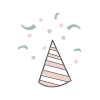 Birthday party hat icon
