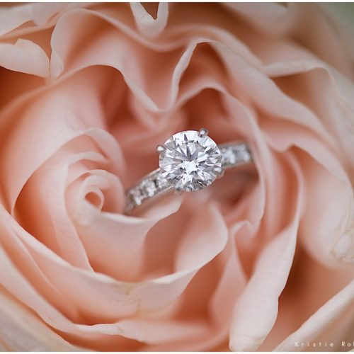 Engagement ring in pink rose, photo by Kristie Robin