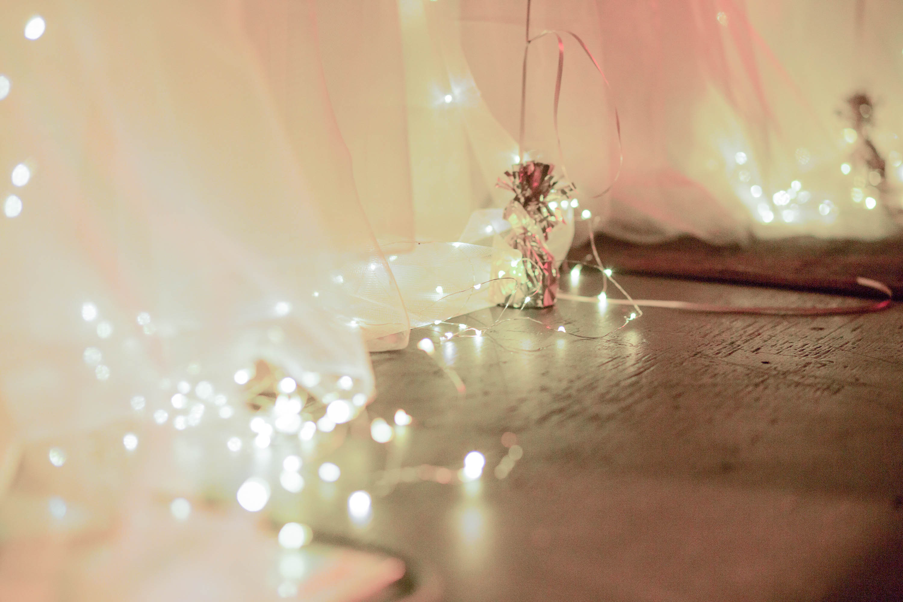 Pretty fairy lights for a wedding