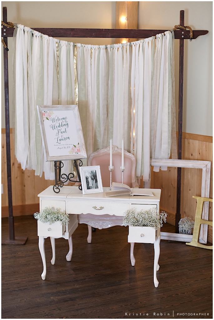 Wedding decorations styled by Bella Coastal Events, photo by Kristie Robin