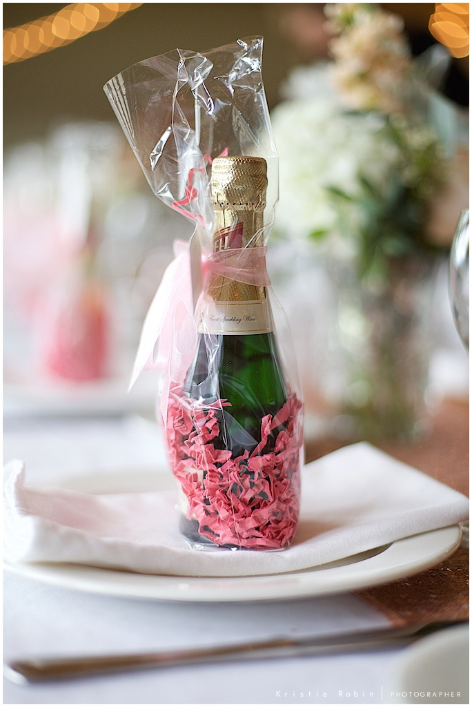 Wedding sparkling wine styled by Bella Coastal Events, photo by Kristie Robin